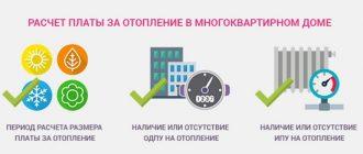 Как начисляется плата за отопление